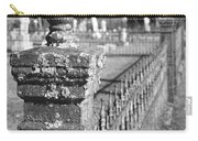 Old Graveyard Fence In Black And White Carry-all Pouch