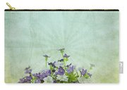 Old Grunge Paper Flowers Pattern Carry-all Pouch by Setsiri Silapasuwanchai