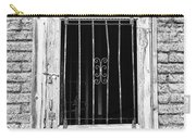 Old Jailhouse Door In Black And White Carry-all Pouch