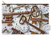 Old Keys And Watch Dails Carry-all Pouch