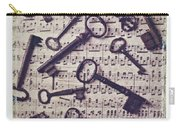 Old Keys On Sheet Music Carry-all Pouch