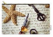 Old Letter With Pen And Starfish Carry-all Pouch