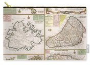 Old Map Of English Colonies In The Caribbean Carry-all Pouch