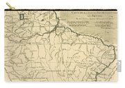 Old Map Of Northern Brazil Carry-all Pouch by Guillaume Raynal