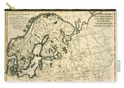 Old Map Of Northern Europe Carry-all Pouch