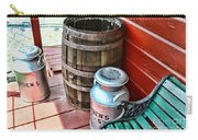 Old Milk Cans And Rain Barrel. Carry-all Pouch