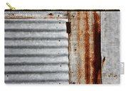 Old Rusty Sheet Metal Carry-all Pouch