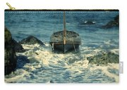 Old Sailing Vessel Near The Rocky Shore Carry-all Pouch
