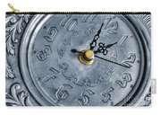 Old Silver Clock Carry-all Pouch