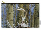 Old Skull And Antlers Carry-all Pouch