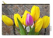Old Tea Pot And Tulips Carry-all Pouch