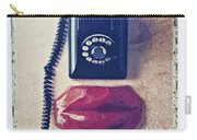 Old Telephone And Red Lips Carry-all Pouch