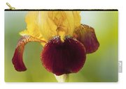 Old Time Two Toned Burgundy And Gold Iris Carry-all Pouch