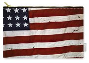 Old Usa Flag Carry-all Pouch by Carlos Caetano
