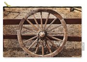 Old West Wheel Carry-all Pouch by Kelley King