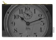 Old Westclock In Black And White Carry-all Pouch