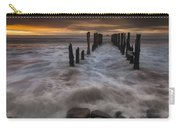 Old Wharf At Sunrise Saint Clair Beach Carry-all Pouch