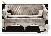 Old Wicker Loveseat Carry-all Pouch
