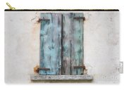 Old Window With Blue Shutte Carry-all Pouch