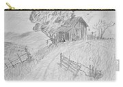 Old Woodshed II Carry-all Pouch by Debbie Portwood