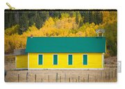 Old Yellow School House With Autumn Colors Carry-all Pouch