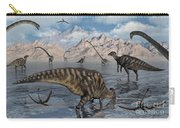 Omeisaurus And Parasaurolphus Dinosaurs Carry-all Pouch