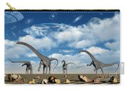 Omeisaurus Dinosaurs Are Startled Carry-all Pouch