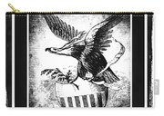 On Eagles Wings Bw Carry-all Pouch