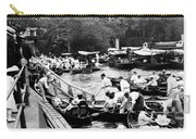 On The River Thames - Waiting For The Locks To Open - C 1902 Carry-all Pouch