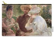 On The Terrace At Sevres Carry-all Pouch by Marie Bracquemond