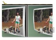 On The Trail - Gently Cross Your Eyes And Focus On The Middle Image That Appears Carry-all Pouch