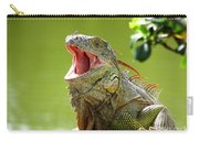 Open Mouth Iguana Carry-all Pouch