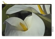 Open White Calla Lily Carry-all Pouch
