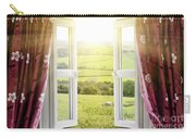 Open Window With Countryside View Carry-all Pouch
