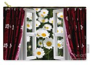 Open Windows Onto Large Daisies Carry-all Pouch