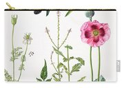 Opium Poppy And Other Plants  Carry-all Pouch by  Elizabeth Rice