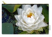 Optical Illusion In A Waterlily Carry-all Pouch by Kaye Menner