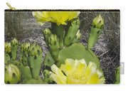 Opuntia Opuntia Sp Cactus Flowering Carry-all Pouch