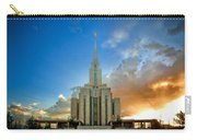 Oquirrh Mtn Temple Setting Sun Carry-all Pouch