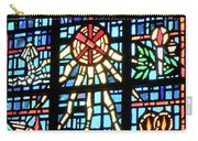 Orange Blue Stained Glass Window Carry-all Pouch by Thomas Woolworth