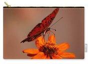 Orange Butterfly Orange Flower Carry-all Pouch