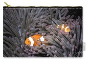 Orange Clownfish In An Anemone Carry-all Pouch