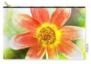 Orange Dahlia On Green Carry-all Pouch
