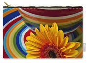 Orange Daisy With Plate And Vase Carry-all Pouch