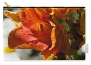 Orange Day Lilies In The Sun Carry-all Pouch