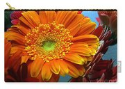 Orange Floral Carry-all Pouch