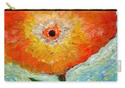 Orange Flower Pop  Carry-all Pouch
