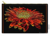 Orange Gerbera Daisy With Chrome Effect Carry-all Pouch