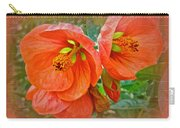 Orange Hibiscus Flowers Carry-all Pouch