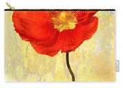 Orange Iceland Poppy On Yellow And Blue Carry-all Pouch